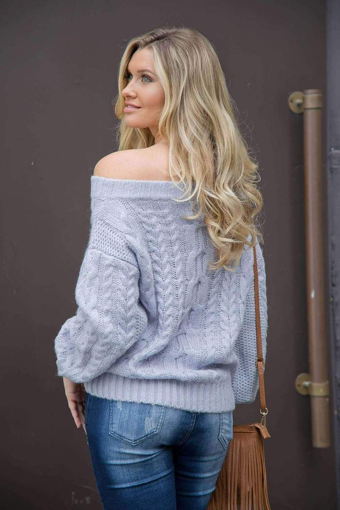 Fluffy Ribbed Sweater - Realforlesscorp