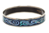 Hermes Blue Enamel Bangle - Realforlesscorp