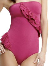 Marc by Marc Jacobs-Deep Pink Ruffle Swimsuit. One-piece Bathing Suit - Realforlesscorp