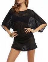 CARMEN MARC VALVO- Brown - Mesh cover up Extra small (fits small also) - Realforlesscorp