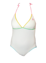 Juicy Couture- Terry one piece White with Rainbow accent- Sizes - Realforlesscorp
