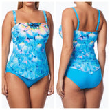Coco Reef Silent Bloom Bra-Sized Underwire Bandeau Tankini Top - Realforlesscorp