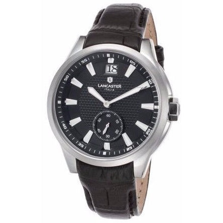 Lancaster Italy Unisex Apollo Black Genuine Leather Watch - LANCASTER-OLA0667T-L-SS-NR-NR - Realforlesscorp