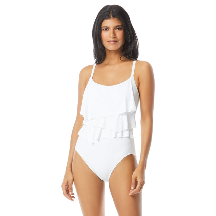 Coco Reef Women's One Piece Swimsuit with Contour Shaping and Ruffle Detail - Realforlesscorp