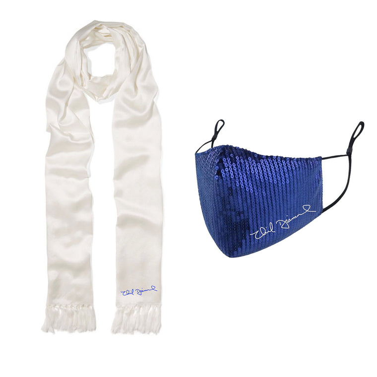 Neil Diamond Sequin Face Mask & Signature Logo Scarf