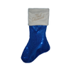 Sequined Holiday Stocking (Blue)-Neil Diamond