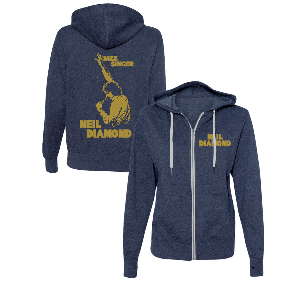 Jazz Singer Zip-Up Hoodie - Neil Diamond