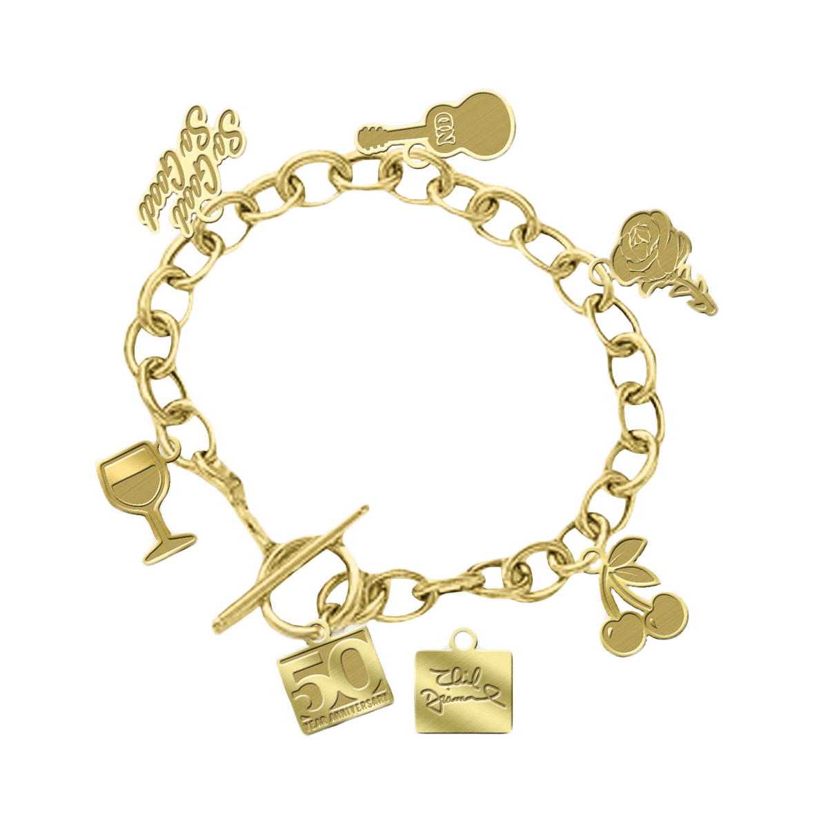 teacher pave charm bracelet h heart