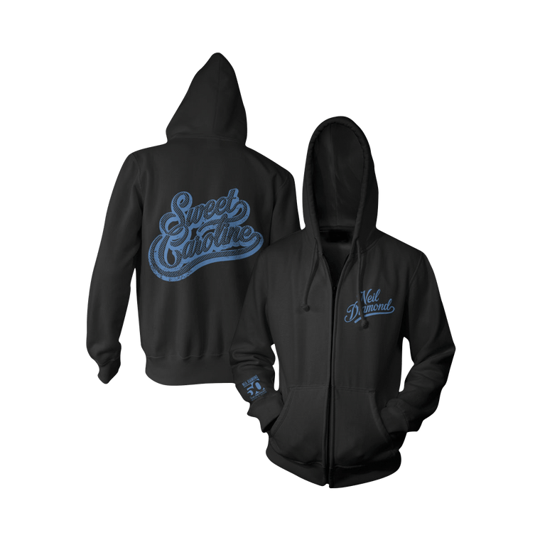 Sweet Caroline Zip-Up Hoodie - Neil Diamond