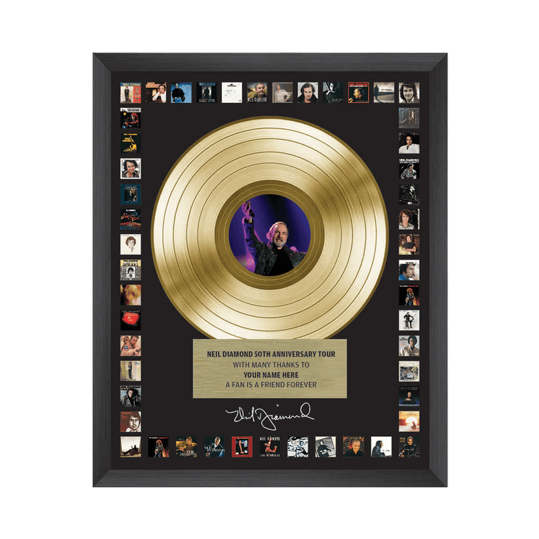 50th Anniversary Tour Custom Commemorative Plaque - Neil Diamond