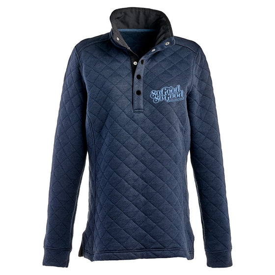 So Good Script quilted sweatshirt