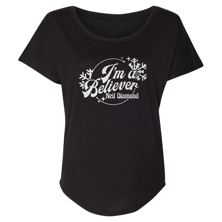 I'm A Believer ladies tee