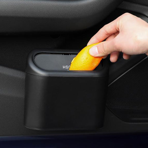 Mini Hang Up Vehicle Auto Car Trash Can Garbage Dust Case Automotive Interior Rubbish Bin Holder Box with Large Capacity 2pcs