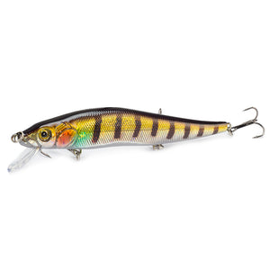 Fishing Minnow Shaped Lures With Three Fishhooks