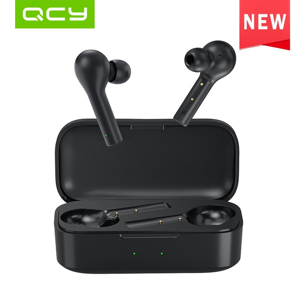 QCY T5 Wireless Bluetooth Headphones V5.0 Touch Control Earphones Stereo HD talking with 380mAh battery