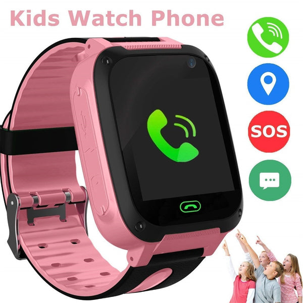#20 Kids Smart Watch Phone GPS SIM Card Child SOS Call Locator Camera Screen GPS Positioning Location Tracker Childs Smart Watch