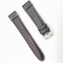 Load image into Gallery viewer, 22mm 26mm Genuine Leather Quick Release Easy Fit Watch Band for Garmin Fenix 6X 5X Fenix5 6 fenix 3 Woven Strap Sports 11.20