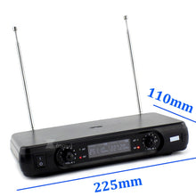 Load image into Gallery viewer, Professional Wireless Microphone Headworn Mic 2 Channels Digital Cordless Receiver BLX1 Bodypack Transmitter For Stage Singing
