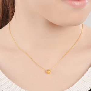JAZB 24K Pure Gold charm  Real AU 999 Solid Gold beads pendant Beautiful Bead Upscale Trendy Classic  Jewelry Hot Sell New 2019