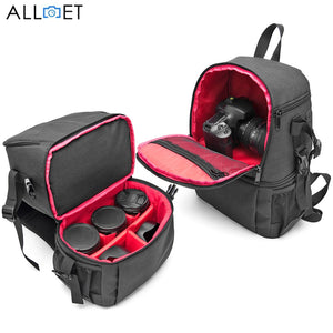 ALLOET Oxford Fabric Waterproof Camera Bag Backpack Outdoor Digital DSLR Bag Video Photo Lens Pouch Case For Canon Nikon Sony