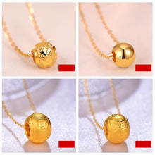 Load image into Gallery viewer, JAZB 24K Pure Gold charm  Real AU 999 Solid Gold beads pendant Beautiful Bead Upscale Trendy Classic  Jewelry Hot Sell New 2019