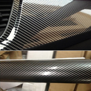 10x152cm 5D High Glossy Carbon Fiber Vinyl Film Car Styling Wrap Motorcycle Car Styling Accessories Interior Carbon Fiber Film