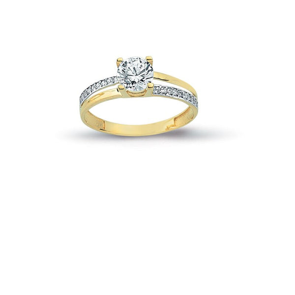 14K Solid Gold Solitaire Exclusive Engagement Wedding Ring