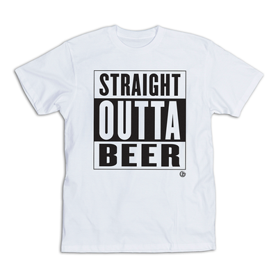 UB Straight Outta Beer T-Shirt White