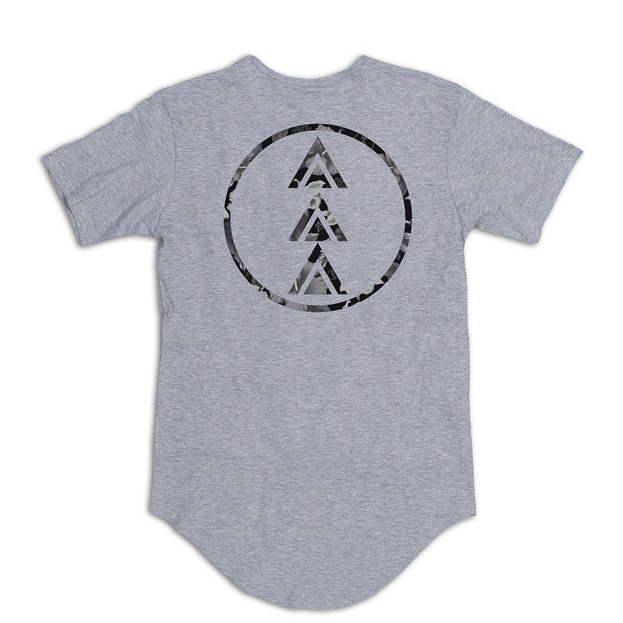 Cymbiscus Glyph Scallop Tee Grey Front