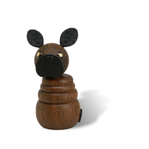 WOODEN Frenchie Puppy (Røget eg)