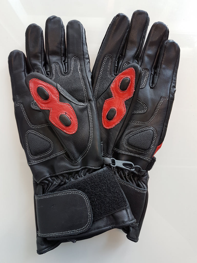 Racer Gauntlet Leather Kevlar Knuckle