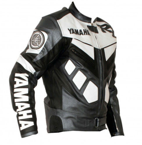 Yamaha R1 Leather Jacket - Black