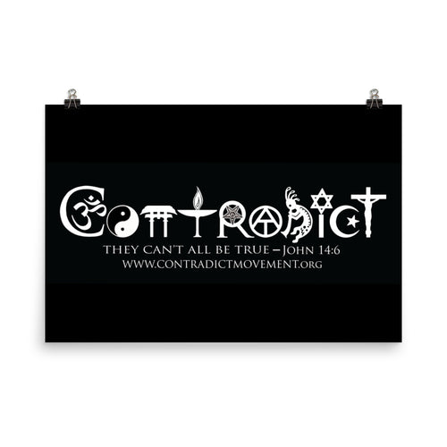 Black Contradict Poster (2' x 3')