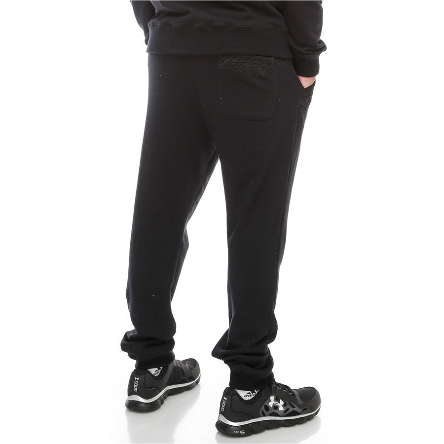 Moroccan Embroidery - Sweatpants - Black