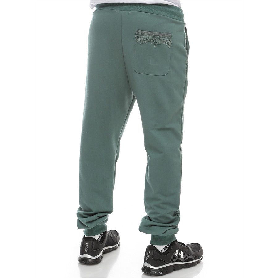 Moroccan Embroidery - Sweatpants - Mallard Green