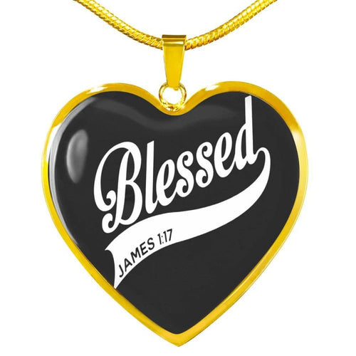 Blessed - Heart Necklace - Luxury Necklace (Gold) / No - Jewelry