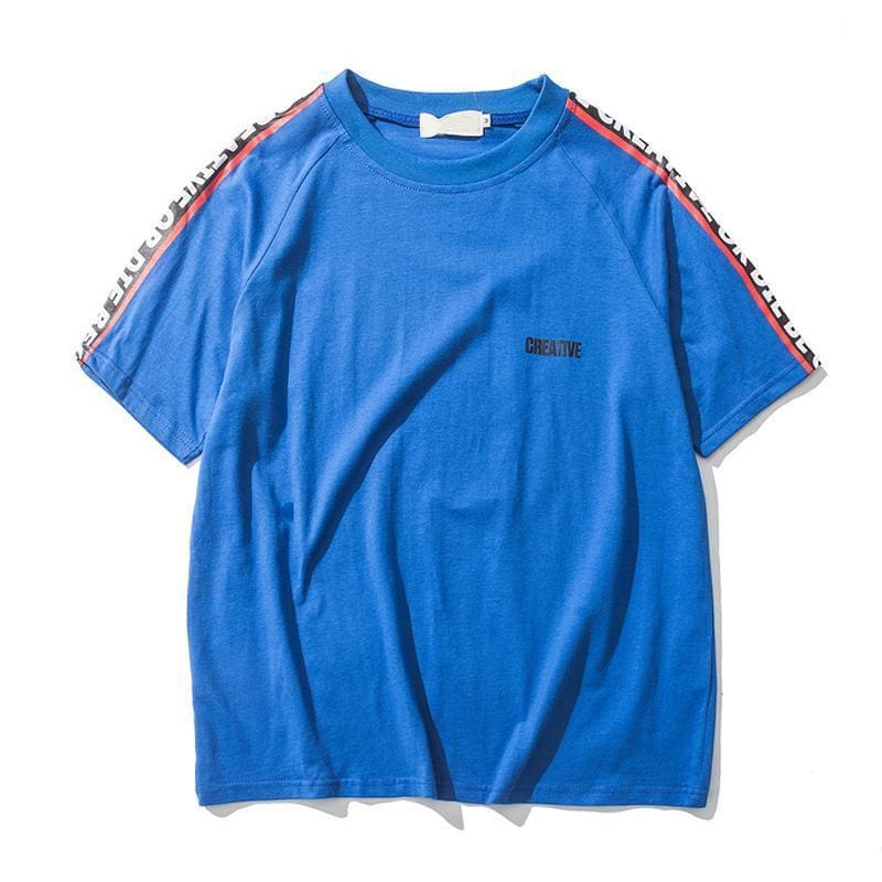 Creative T-Shirt - Blue / Asia M / Us S