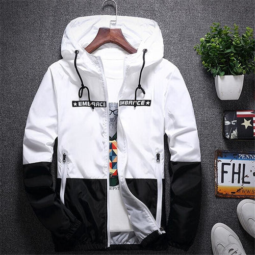 Embrace Windbreaker Jacket - White / Asia S / Us Xxxs