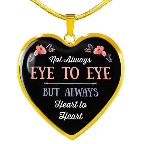 Eye To Eye - Heart Necklace - Luxury Necklace (Gold) / No - Jewelry