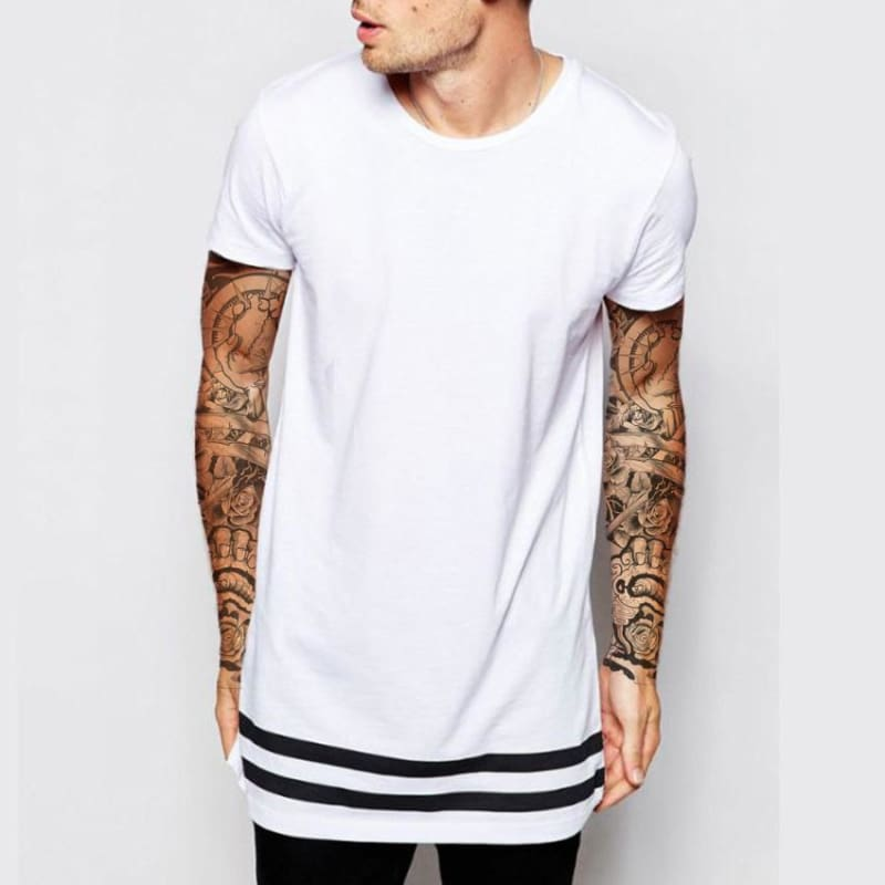 Hipster Long Tee - White / Us S