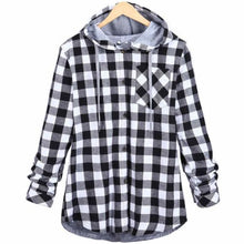 Load image into Gallery viewer, Kaizer Flannel Hoodie - Black / Asian L / Us S