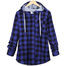 Load image into Gallery viewer, Kaizer Flannel Hoodie - Blue / Asian L / Us S
