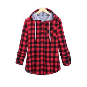 Kaizer Flannel Hoodie - Red / Asian L / Us S