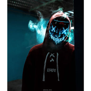Led Power Mask - Smile - Light Blue