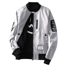 Load image into Gallery viewer, Levelz Bomber Jacket - Gray / Asia M / Us Xs