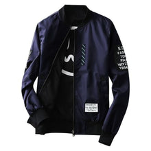 Load image into Gallery viewer, Levelz Bomber Jacket - Navy / Asia M / Us Xs