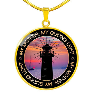 Mom Guiding Light - Round Necklace - Luxury Necklace (Gold) / No - Jewelry