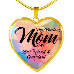 Precious Mom - Heart Necklace - Luxury Necklace (Gold) / No - Jewelry