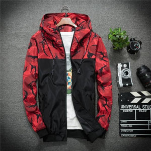 Recon Windbreaker Jacket - Red / Asia M / Us Xs