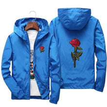 Load image into Gallery viewer, Rose Windbreaker Jacket - Blue / Us Xs